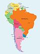 Südamerika, Lankarte