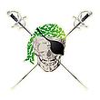 Piraten-Schädel