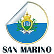 Flag, San Marino Sticker | Stock Illustration