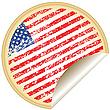 Aufkleber mit USA-Flagge