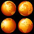Globusy Ziemi | Stock Illustration