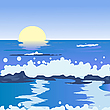 ID 3002504 | Ocean landscape | Stockowa ilustracja wysokiej rozdzielczości | KLIPARTO