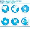 Set von Erde-Globen