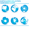 Set von Erde-Globen | Stock Vektrografik