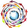 ID 3006116 | Globe und Pfeile | Stock Vektorgrafik | CLIPARTO