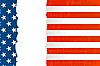 Hintergrund mit US-Flagge