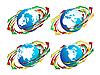 Земной шар и стрелки вокруг | Векторный клипарт