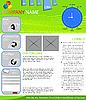 ID 3006134 | Web-Seiten-Layout | Stock Vektorgrafik | CLIPARTO