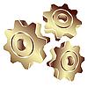 ID 3006194 | 3D齿轮黄金 | 向量插图 | CLIPARTO