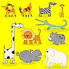 Vektor Cliparts: Afrikanische Wildtiere