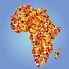 ID 3010723 | Landkarte Afrikas aus Herbstblätter | Stock Vektorgrafik | CLIPARTO