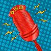 Векторный клипарт: Поп-арт микрофон