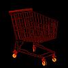 roter Einkaufswagen