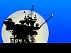 Ölplattform-Silhouette