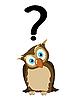 ID 3016645 | Sowa ze znakiem zapytania | Klipart wektorowy | KLIPARTO