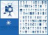 Blaue Web-Icons