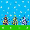 Рождественская открытка | Векторный клипарт