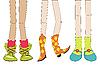 Beine und Schuhe