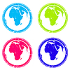 Vector clipart: africa stamps