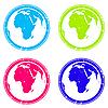 Stempel mit Afrika