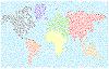 Стилизованная карта мира | Векторный клипарт