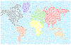 Stylizowana mapa świata | Stock Vector Graphics