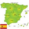 ID 3018528 | 西班牙地图 | 高分辨率插图 | CLIPARTO