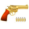 ID 3018679 | Goldener Revolver und Munition | Stock Vektorgrafik | CLIPARTO