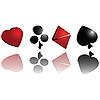 ID 3025129 | 3D symbole kart do gry | Stockowa ilustracja wysokiej rozdzielczości | KLIPARTO