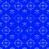 ID 3025170 | Синий узор с цветочным декором | Иллюстрация большого размера | CLIPARTO