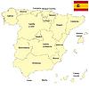 Landkarte von Spanien