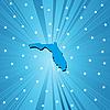 Blaue Landkarte Floridas