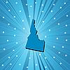 Blau Landkarte von Idaho
