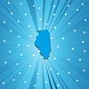 Blaue Landkarte von Illinois