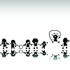 ID 3025312 | Kinder-Silhouetten | Illustration mit hoher Auflösung | CLIPARTO