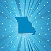 Blaue Landkarte von Missouri
