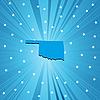 Blaue Landkarte von Oklahoma
