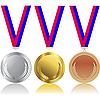 Set von Medaillen