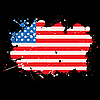Grunge-Flagge der USA