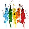 скрипки гранж-фон