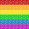 Regenbogen-Wand