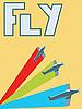 Retro-Poster mit Fleugzeugen