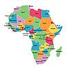 非洲国家的边界地图 | 向量插图