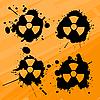 nukleare Kleckse