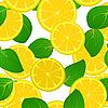 Muster mit Zitronenscheiben