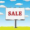 Billboard mit dem Verkauf-Aufschrift
