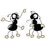 tanzende Ameisen