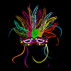 Mardi grass party mask