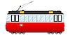 Vector clipart: Vintage tram