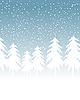 겨울 눈 덮인 풍경 | Stock Vector Graphics